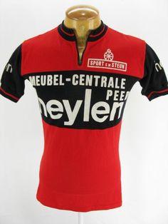Mens Vintage Knit Acrylic Heylen Raxar Cycling Bike Jersey Maillot Shirt L Large | eBay