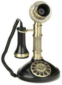 A popular candlestick phone in the Vintage Phones, Vintage Telephone, Objets Antiques, Antique Phone, Roman Columns, Retro Phone, Old Phone, Vintage Love, Vintage Style
