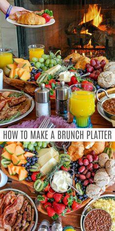 How to Create the Perfect Brunch. Want to create the perfect brunch platter for entertaining at home? These tips will help thanks to Want to create the perfect brunch platter for entertaining at home? These tips will help. Birthday Brunch, Easter Brunch, Sunday Brunch, Chicken Thights Recipes, Easy Chicken Recipes, Brunchs Ideas, Tapas, Breakfast Platter, Breakfast Casserole