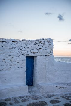 White & Blue Mykonos