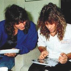 Richie Sambora and Jon Bon Jovi. @bonjovi_insiders   Instagram.