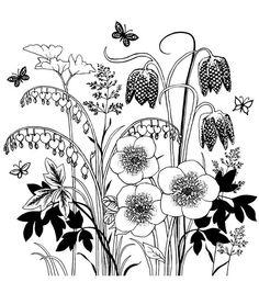 Crafty Individuals Unmounted Rubber Stamp-Spring Flower Garden
