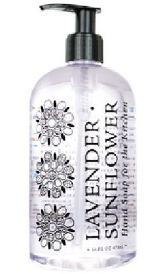 Lavender Sunflower Liquid Hand Soap by Greenwich Bay Trading Company. Enriched with shea butter, cocoa butter, thyme leaf oil, sunflower oil & essential oils of lavender. Sunflower Kitchen, Sunflower Oil, Bottle Top, Vodka Bottle, Natural Essential Oils, Natural Oils, Cocoa Butter, Shea Butter, Liquid Hand Soap