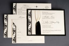 Black White Invitations Wedding Invitations Photos & Pictures - WeddingWire.com
