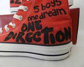 One Direction Converse - vas happenin. $100.00, via Etsy.