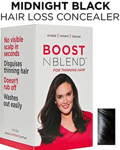 BOOSTnBLEND Platinum Blonde Hair Loss Concealer for Women with Hair Loss Covers up Visible Scalp for Women with Visible Thinning Hair *** Continue to the product at the image link. Medium Brown Hair, Light Brown Hair, Dark Brown, Silver Grey Hair, Black Hair, Thin Hair Styles For Women, Hair Powder, Hair Loss Shampoo, Hair Thickening