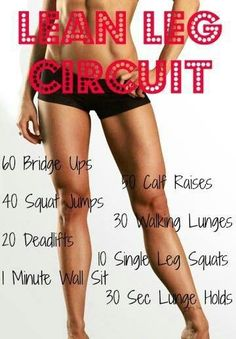 Great for your legs! Squats and lunges are my favourites. Walk up stairs too, great exercise for your heart and legs! <3