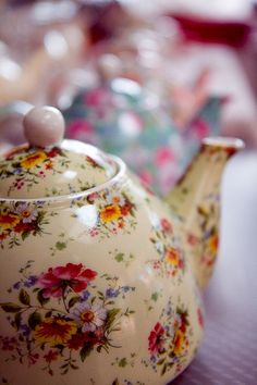pretty chintz teapot