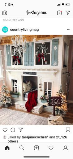 Rustic Bunk Beds, Bunk Bed Rooms, North Pole Express, Good Morning Friends, Santas Workshop, Beautiful Little Girls, Little Girl Rooms, Play Houses, Girls Bedroom