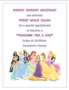 Invitation to cinderellas royal table craft cinderalla her i have created this invitation for my child to become a princess for the day stopboris Choice Image