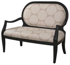 Classic Seating Batik Pearl Black Framed Bench by Powell