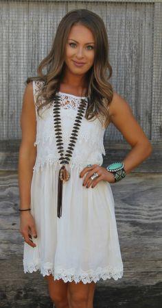 Melissa White Crochet Dress - The Lace Cactus