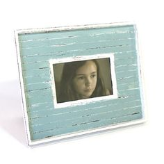Steel Blue Stripe Wood Frame (4x6)