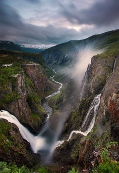 Waterfall in Norway - by Travis Caulfield
