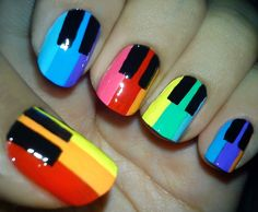 Rainbow keys! Need to be shorter to actually play,but I like this!