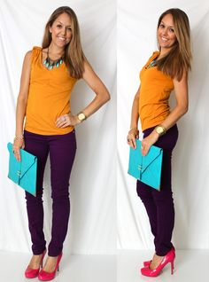 purple jeans!!