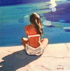 """Saatchi Art Artist Elizabeth Lennie; Painting, """"Being Alone"""" #art"""