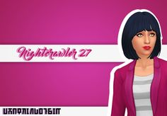 """whatkindofsim: """"  Nightcrawler Pearl [Mesh] + Nightcrawler 27 [Mesh] • Clayified • T-E Female • all EA colours + my expansions • 27 was updated to be Clayified, add my additional colours and use a..."""