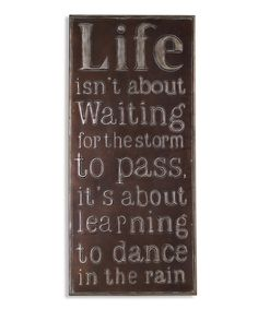 7d7cb7bb4cd4 Look what I found on Bronze Metal  Dance in the Rain  Wall Art by Lifetime  Brands
