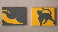 Paint some simple cat silhouettes. #DIY