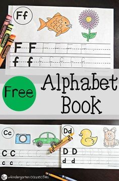 A Free Printable alphabet book perfect for preschool and kindergarten classrooms. This can be used for letter of the day or as extra literacy and alphabet practice. Preschool Letters, Learning Letters, Preschool Kindergarten, Preschool Learning, Letters Kindergarten, Letter Recognition Kindergarten, Alphabet Writing Practice, Ec 3, Lettering