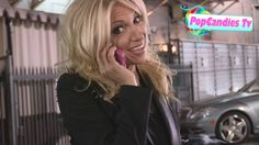 Debbie Gibson on Phone in Hollywood
