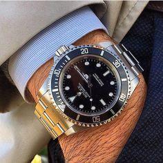Classically Cool: The Rolex Submariner. #rolexsub #rolexsubmariner #submariner…