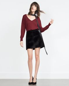 ZARA - WOMAN - KNITTED SWEATER WITH VENTS