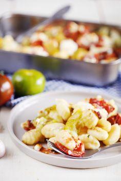 Gratin de gnocchis aux tomates et burrata