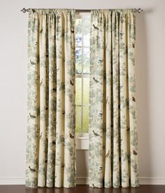 Aviary Lined Rod Pocket Curtains from Country Curtains - gorgeous fabric!