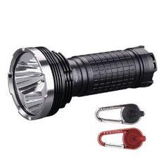 FENIX TK75 2600 Lumen Triple CREE XM-L U2 LED Flashlight / Searchlight with Two Smith & Wesson LED CaraBeamer Clip Lights