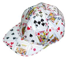 Hat made from playing cards FREE SHIPPING upcycled recycled reuse art gift  idea ideas for blackjack poker bridge player players club friends 2e4bc9b8f65