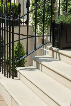natural stone steps masoned from york stone and portland stone. Masoned stonework front door steps, patio flagstones and paving, add elegance with natural stone steps Front Path, Front Door Steps, Front Stairs, Porch Steps, Front Entry, Victorian Hallway, Victorian Front Doors, Victorian Terrace, Victorian Homes