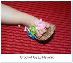 OS PONTINHOS DA MAMAE (crochet-tricot-ponto cruz-costurinhas,etc): chinelitas/chinelinhos crochet baby