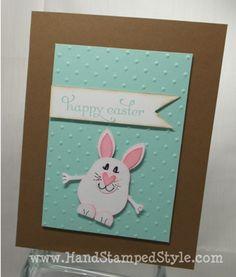 Owl Punch Easter Bunny- www.HandStampedStyle.com