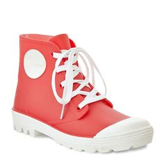 Henry Ferrera Fun Women's Water-Resistant High-Top Rain Boots, Size: 9, Red