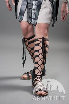 Fantasy style antique leather sandals for sale Gladiator Sandals, Leather Sandals, Ancient Greek Costumes, Types Of Sandals, Walking, Sandals For Sale, Comfortable Shoes, Lady, Brown Leather