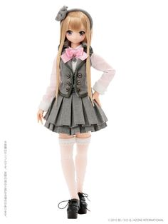 Sahra's a la mode: Pink! Pink! A La Mode Lycee Gray X Pink Azone Doll - The Dolly Insider