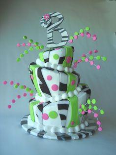 topsy turvy zebra cake