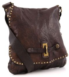 Lavata Shoulder Bag Leather dark-brown 29 cm