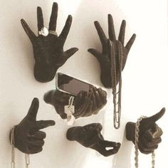 Art/wall Decor - All hand wall sculptures hang on two key holes. Jewellery Storage, Jewelry Organization, Jewellery Displays, Jewellery Box, Designer Jewellery, Storage Organization, Jewelry Holder, Diy Jewelry, Gold Jewelry
