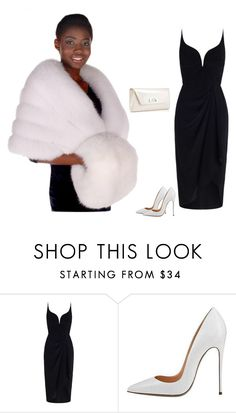 """White Fox Fur Muff White Fur Handwarmer Muff"" by inela-salanovic ❤ liked on Polyvore featuring Zimmermann and Christian Louboutin"