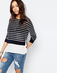 Only Rope Striped 2 In 1 Jumper