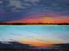 Brain tumor survivor paints sunrise every day, in gratitude. Sunrise Painting, Brain Tumor, Waves, Gratitude, Amazing, Outdoor, Inspiration, Art, Ideas