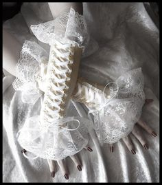Cities in Dust Victorian Corset Laced Up Arm by ZenAndCoffee, $42.00