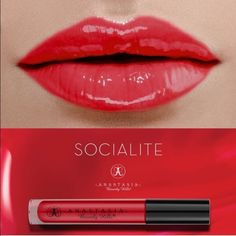 Anastasia Socialite Lipgloss Red hot beautiful girl with great application. This is high quality makeup you will not regret. Never used perfect condition. No box. Anastasia Beverly Hills Makeup Lipstick