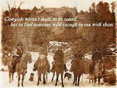Cowgirls = Good Sentiment