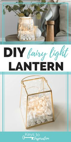 DIY Fairy Light Lantern is part of Diy home crafts - Learn how to make a DIY fairy light lantern for any outdoor space in your home It's a quick and easy craft project for summer Diy Home Crafts, Easy Home Decor, Easy Diy Crafts, Diy Crafts For Kids, Decor Crafts, Crafts For The Home, Wood Crafts, Diy Crafts For Bedroom, Baby Crafts