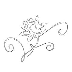 "Love the vines maybe i can use this to put a ""G"" with the flower...........lotus this is the exact tattoo I have on my foot"