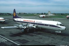 Mandala Airlines Lockheed L-188C Electra aircraft picture @Kemayoran Airport (closed)
